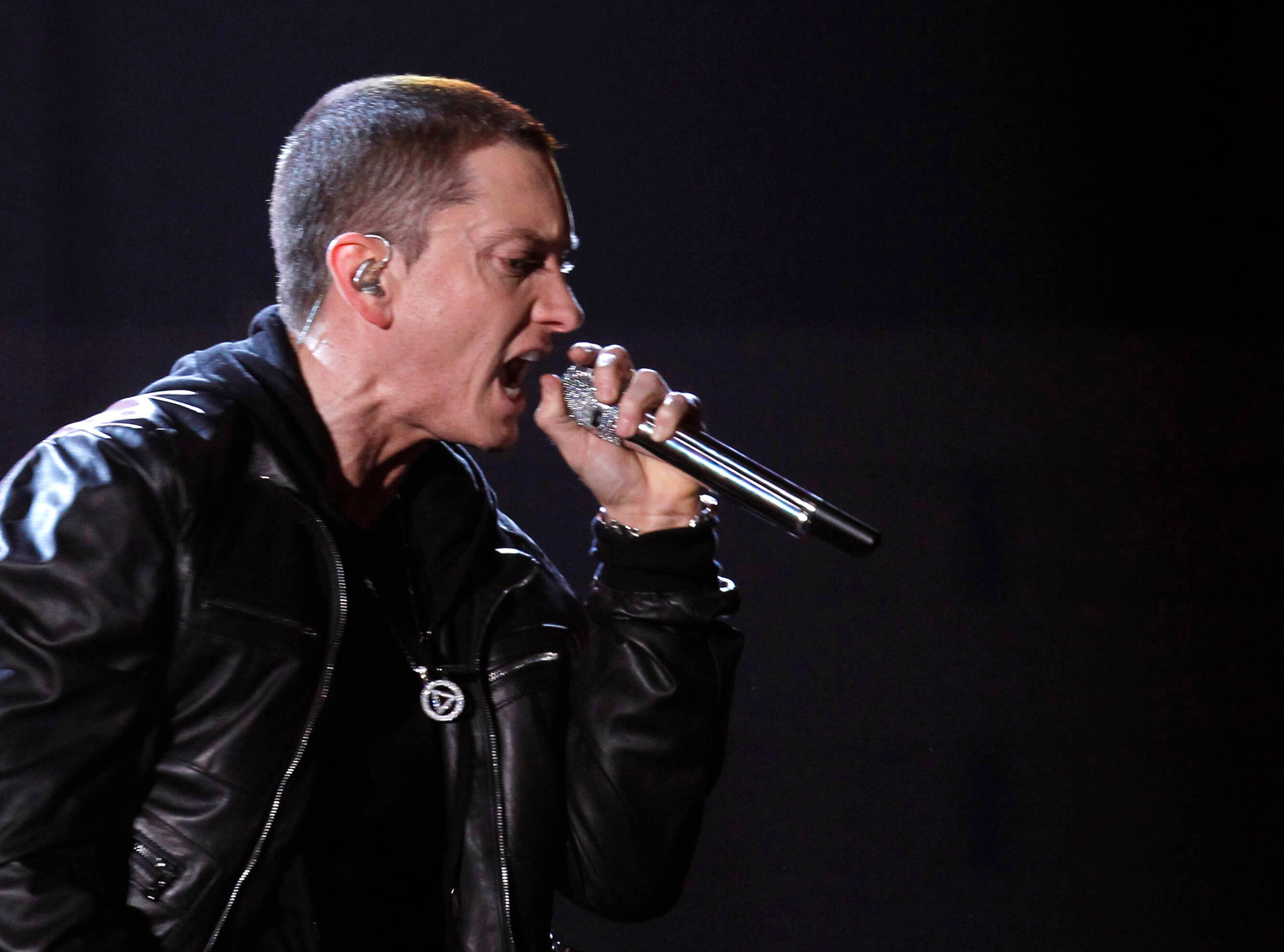 "Eminem performs ""I Need A Doctor"" at the 53rd annual Grammy Awards in Los Angeles"