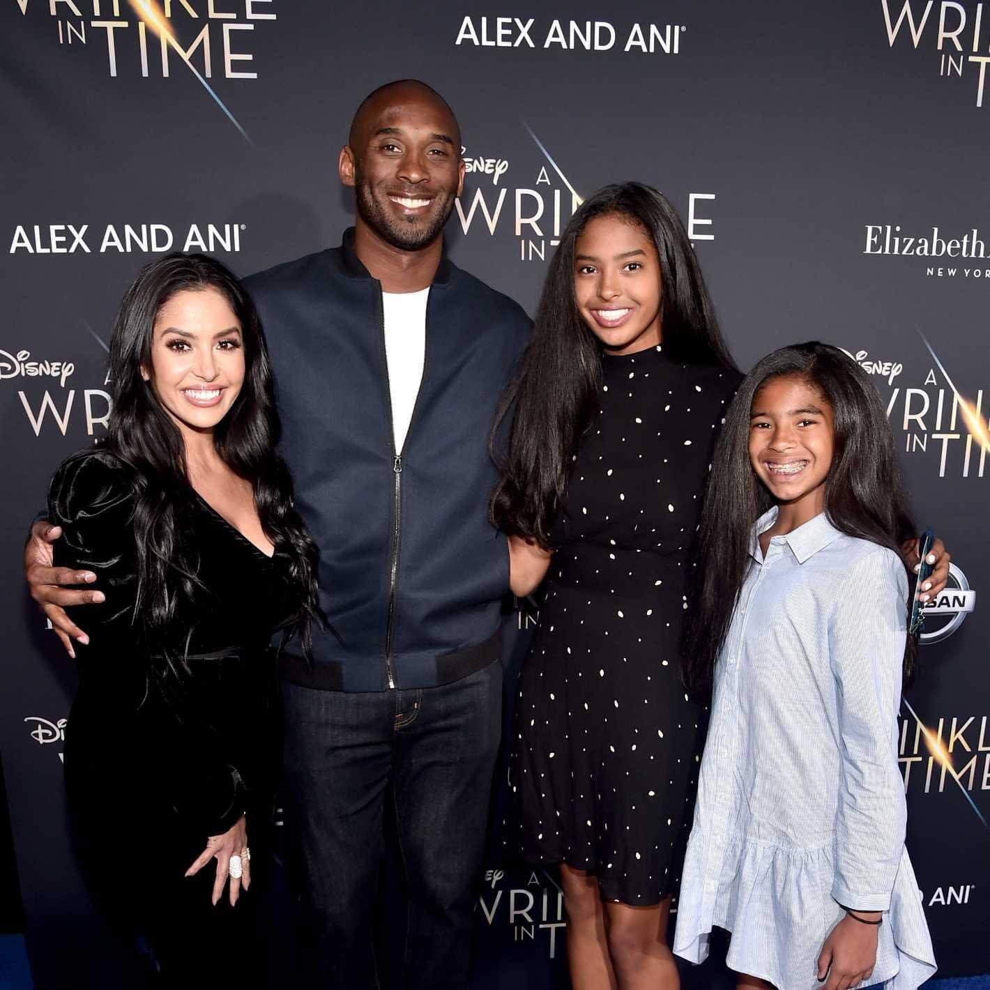 Vanessa Laine Bryant, former NBA player Kobe Bryant, Natalia Diamante Bryant, and Gianna Maria-Onore Bryant