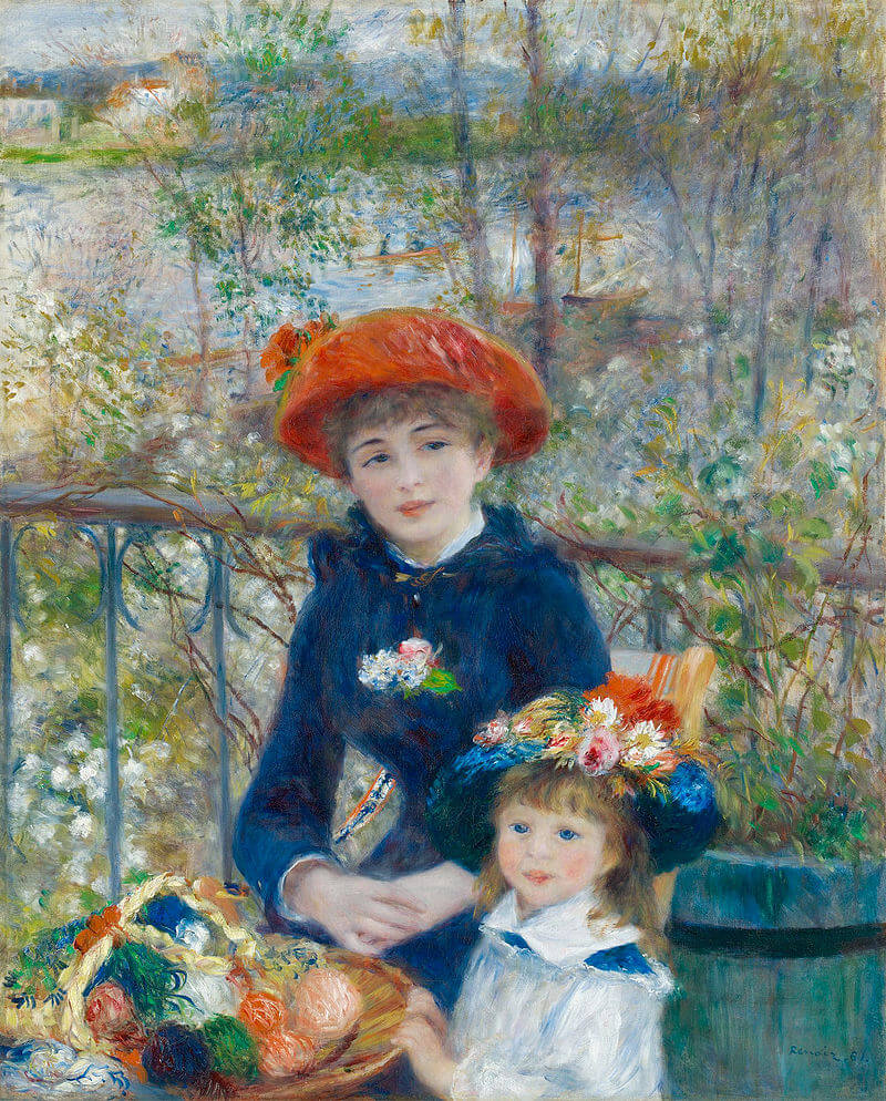 Pierre-Auguste Renoir-Two Sisters (On the Terrace)