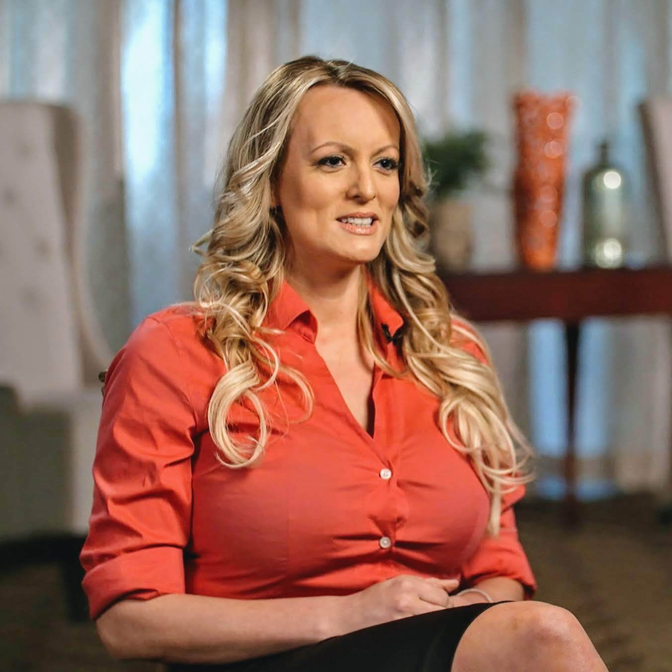 Stormy Daniels in her interview with Anderson Cooper