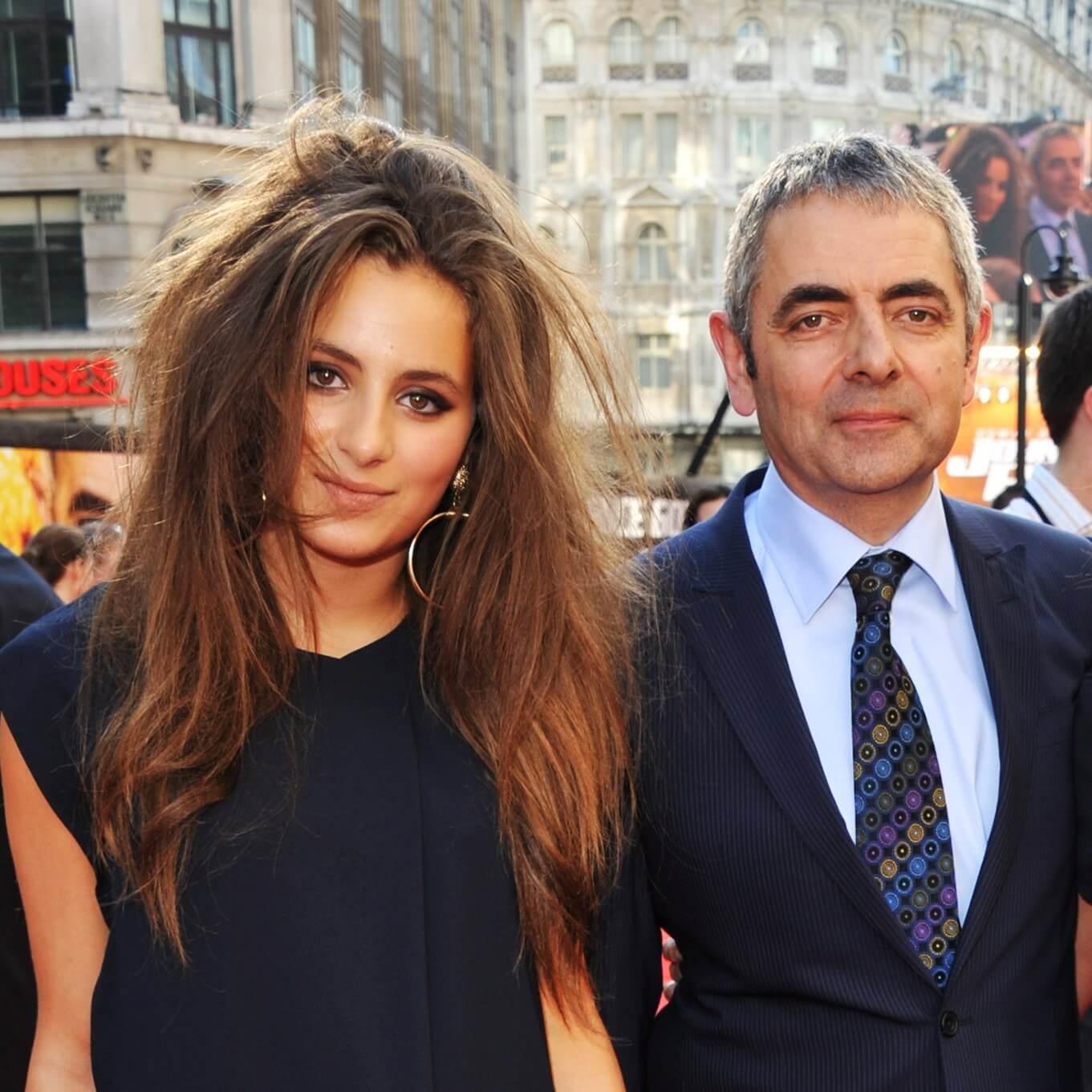 Rowan Atkinson and Lily Atkinson